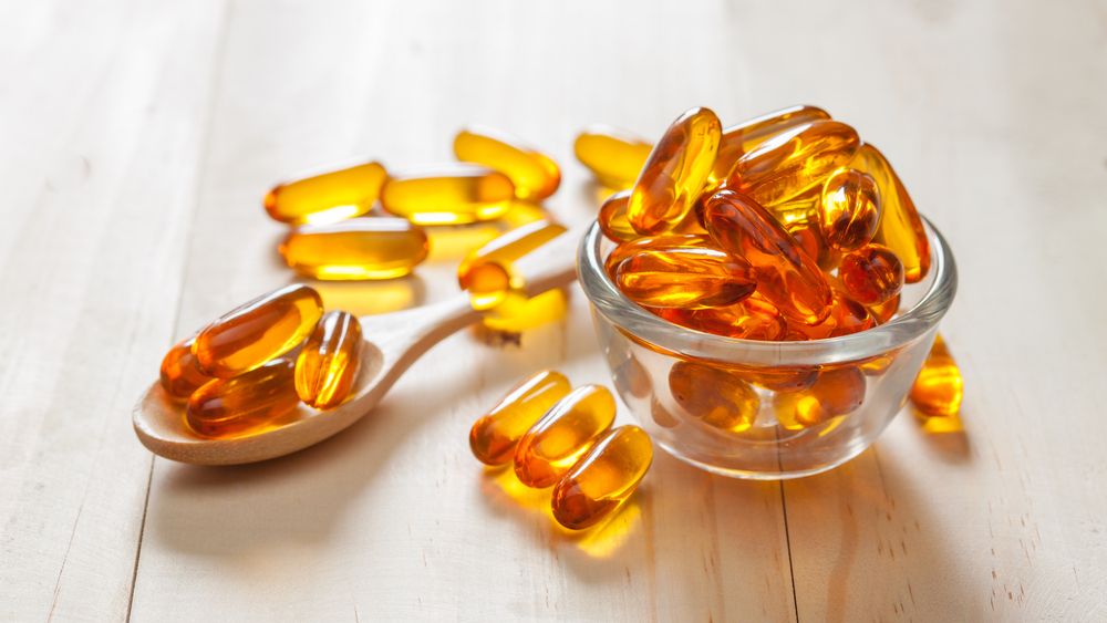 fish oil soft gel capsules