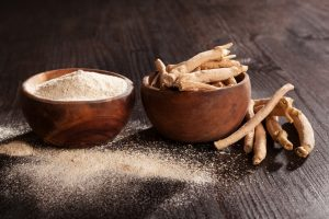 ashwagandha branch and powder