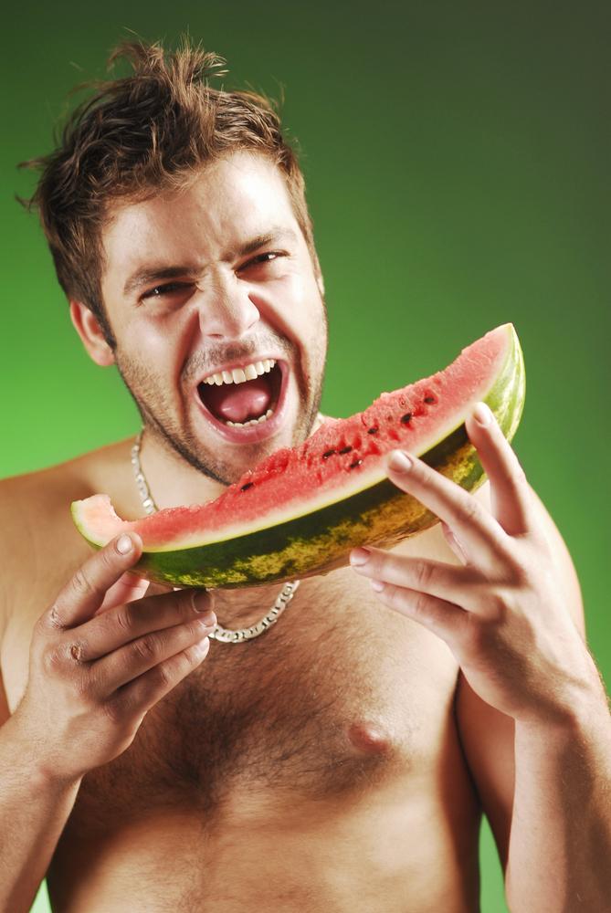 devouring that watermelon