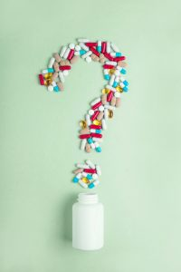 supplement pills question mark