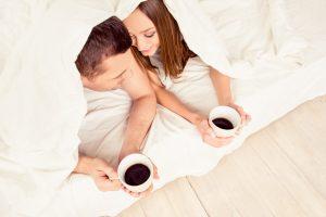 couple sharing morning coffee