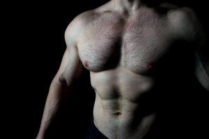 shirtless man testosterone