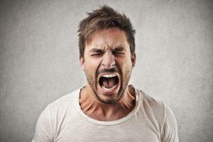 angry shouting man