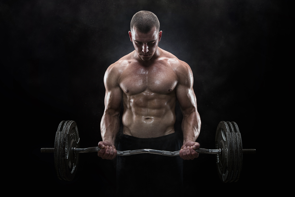 ripped guy weightlifting