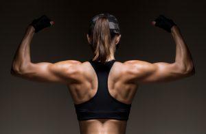 strong muscular woman