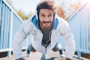 man morning workout