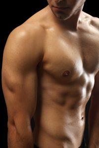 half naked man