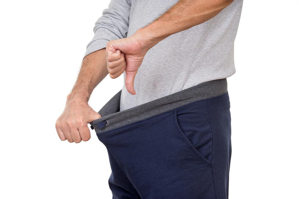 man thumbs down on erection