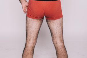 man's hairy legs