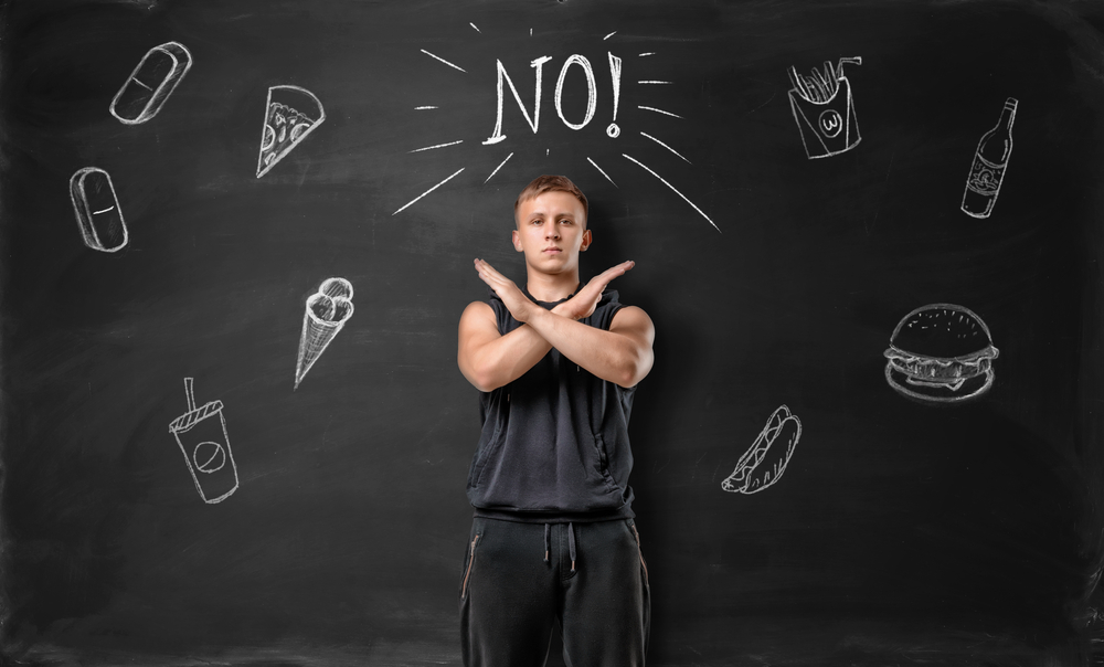 say no to unhealthy foods