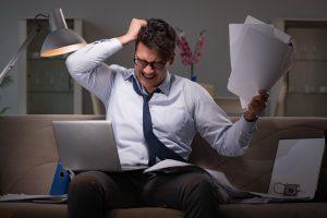 stressed working man