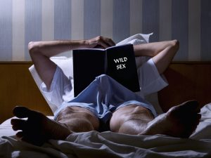 getting an erection from erotic book