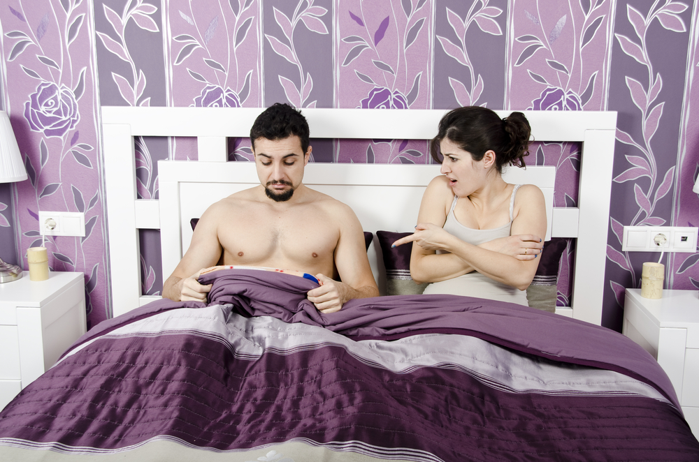 couple with erectile dysfunction issues