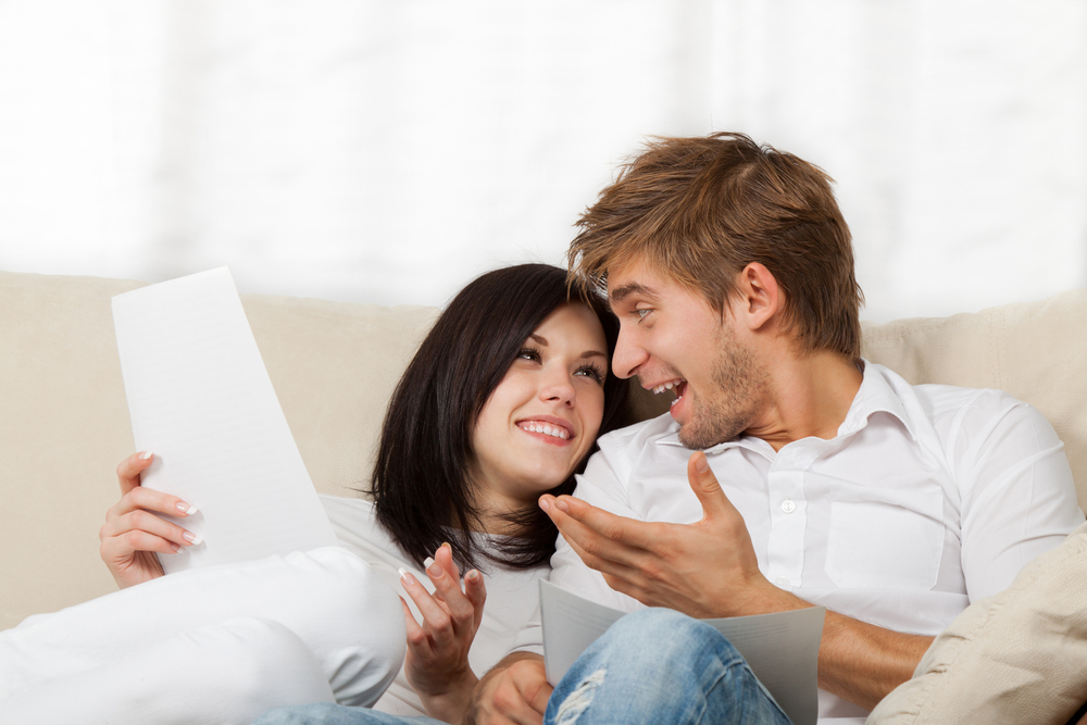 couple talking about relationship