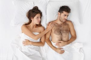 wife comforts husband with erectile problem