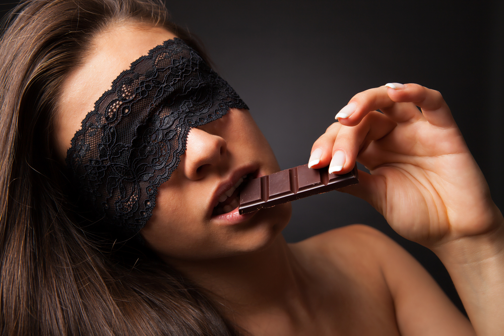 blindfolds and chocolate