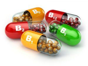 B vitamin capsules