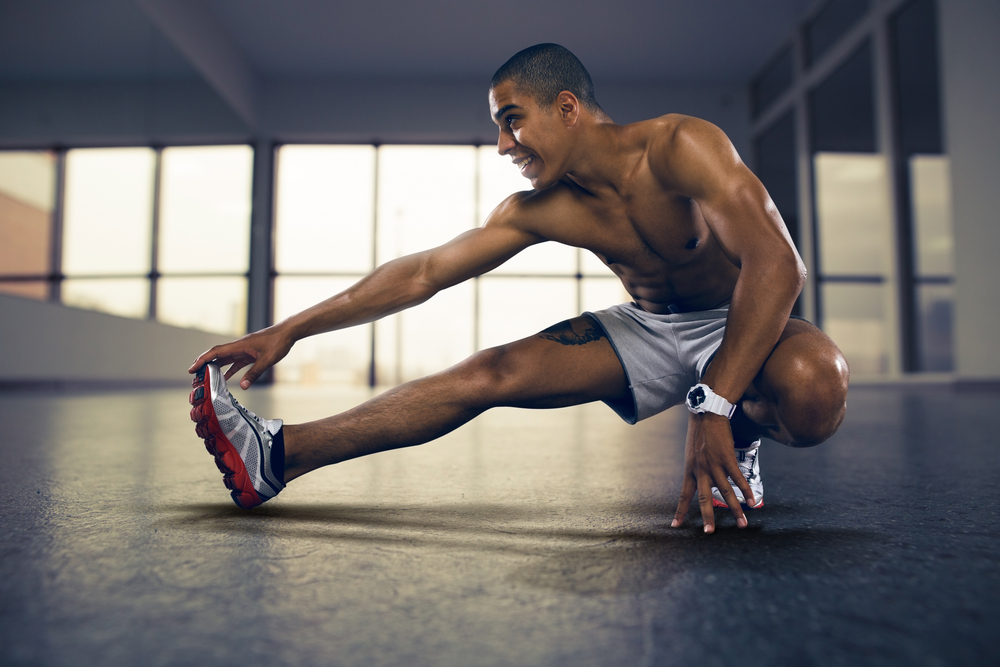 fit man exercising