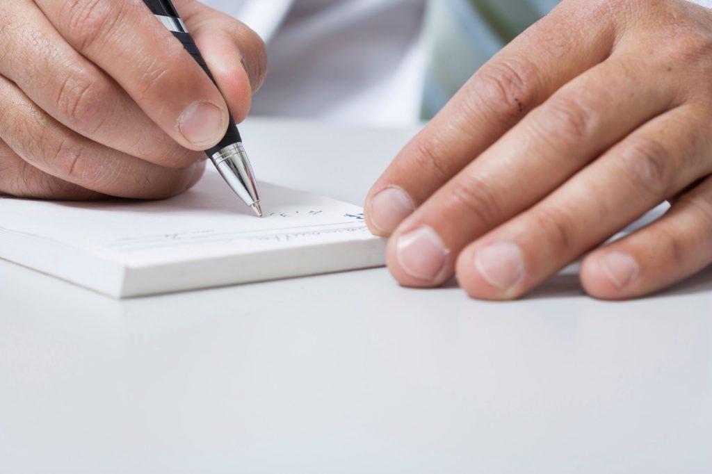 writing up a prescription