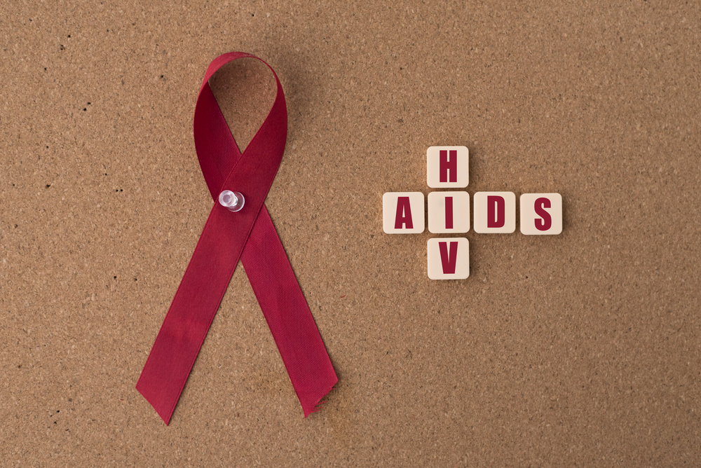 HIV AIDS red ribbon