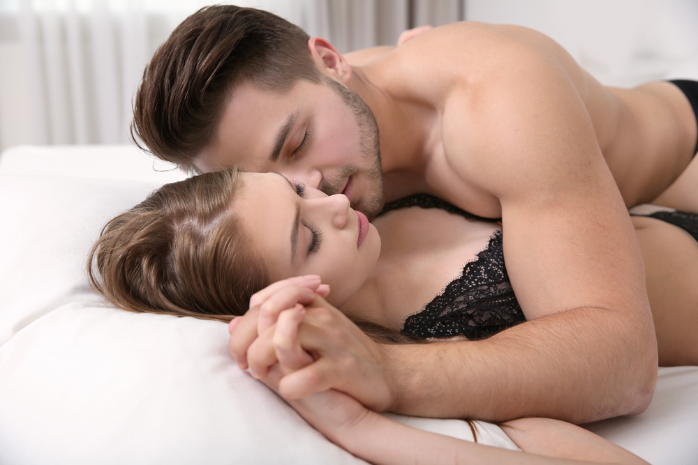 sweet intimacy in bed