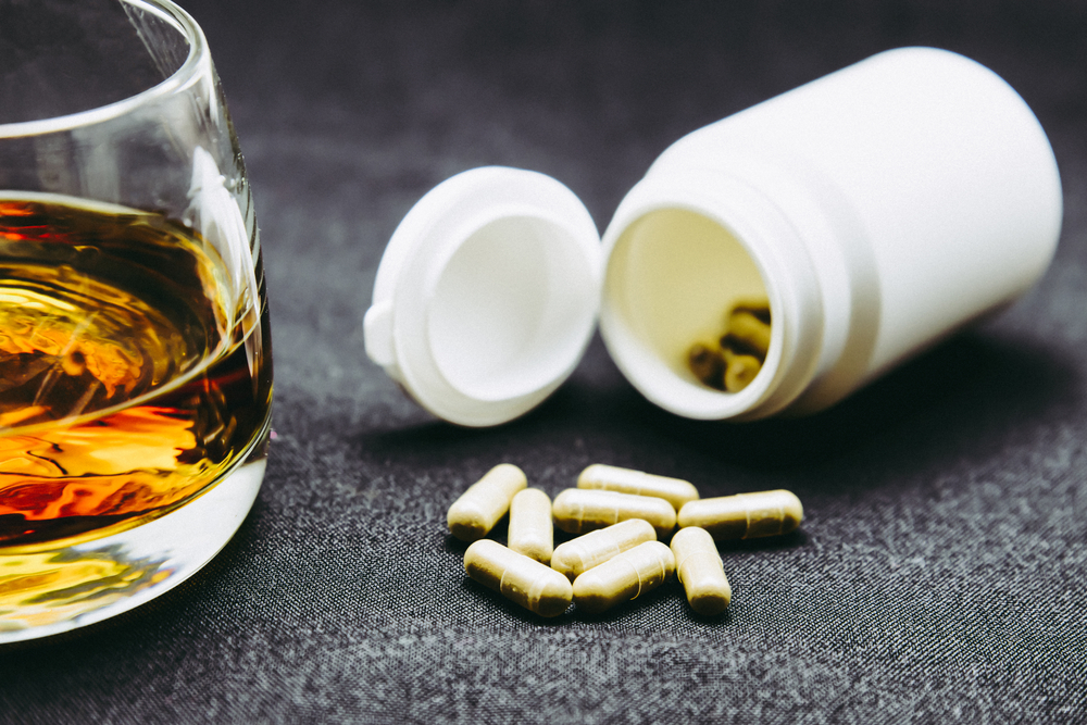 supplement capsules with alcohol