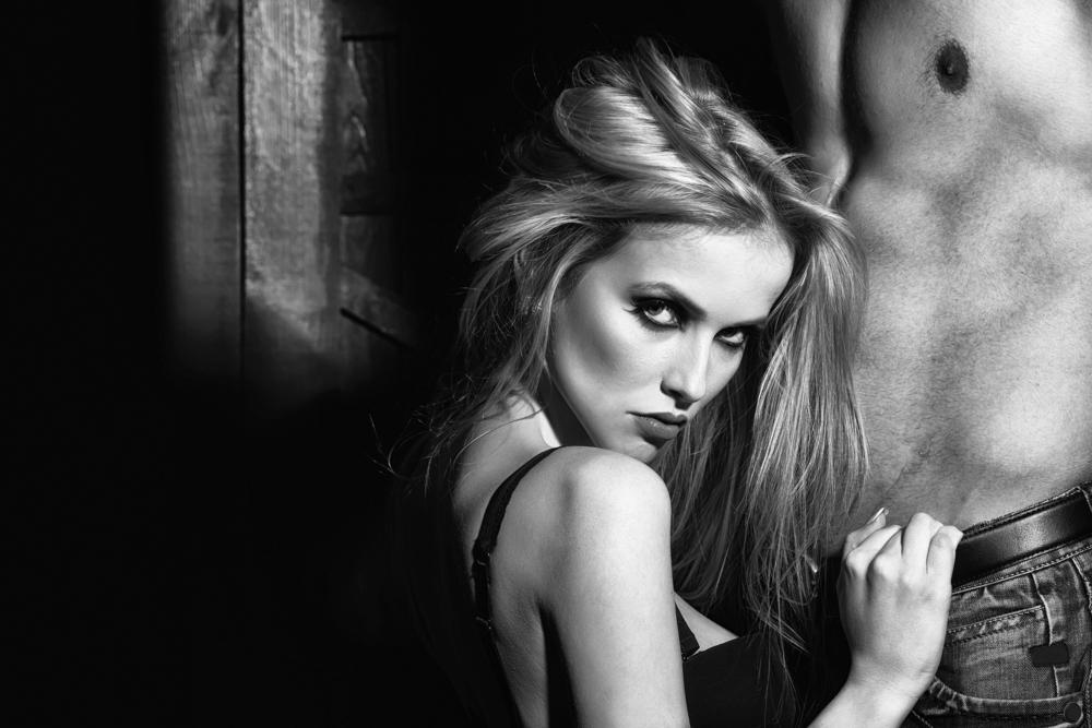 woman undressing sexy man