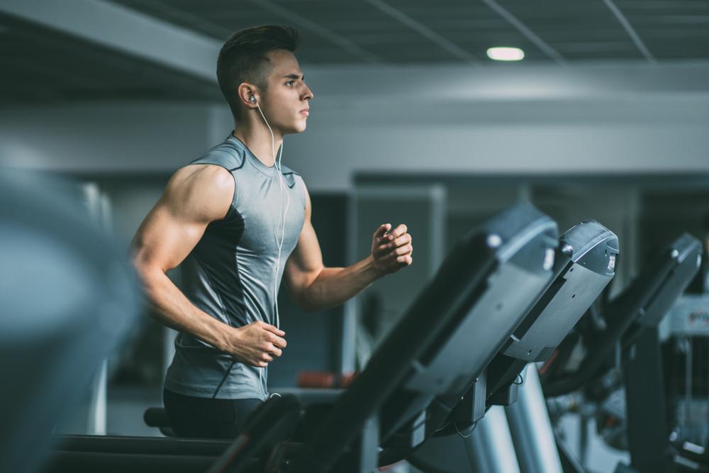 fit guy on treadmill