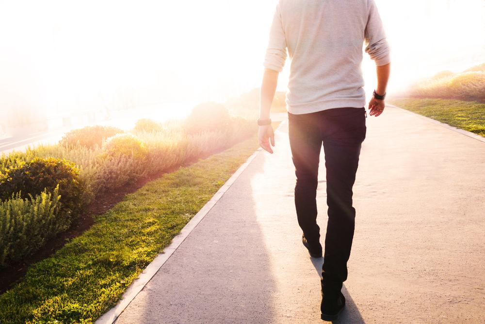 taking a morning walk