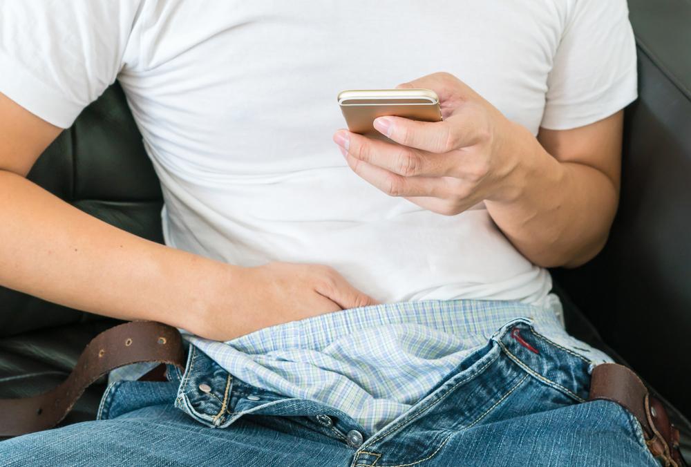 masturbating to mobile porn