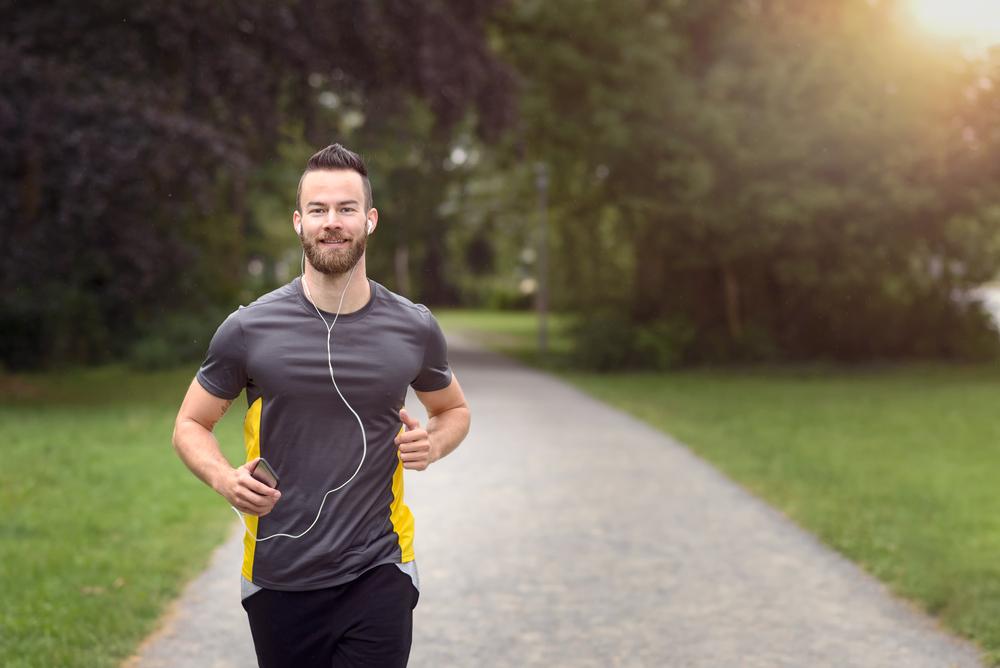 man having a morning run