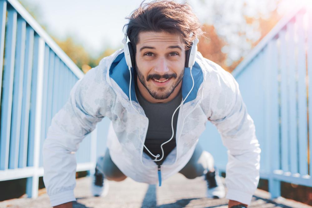 push up during a run