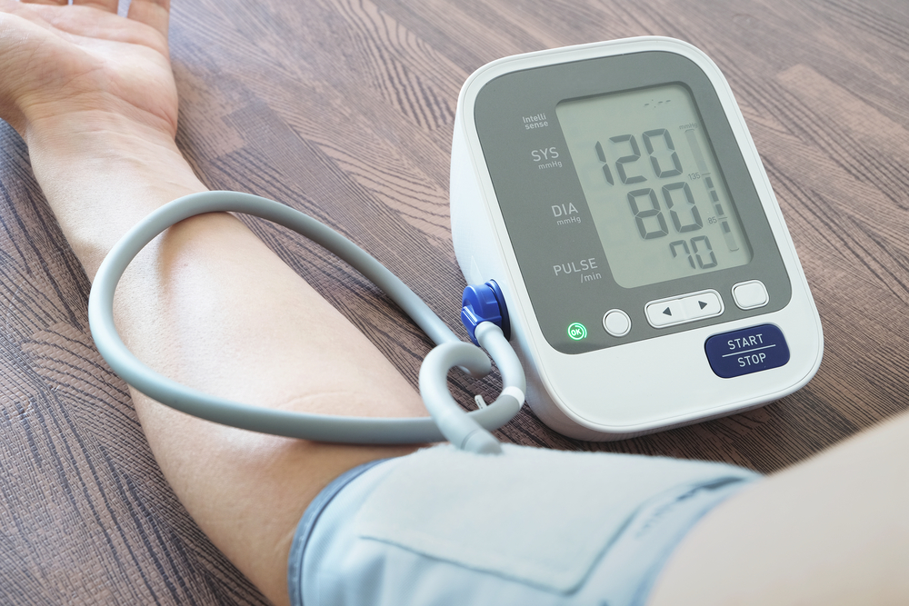 checking for hypertension on monitor