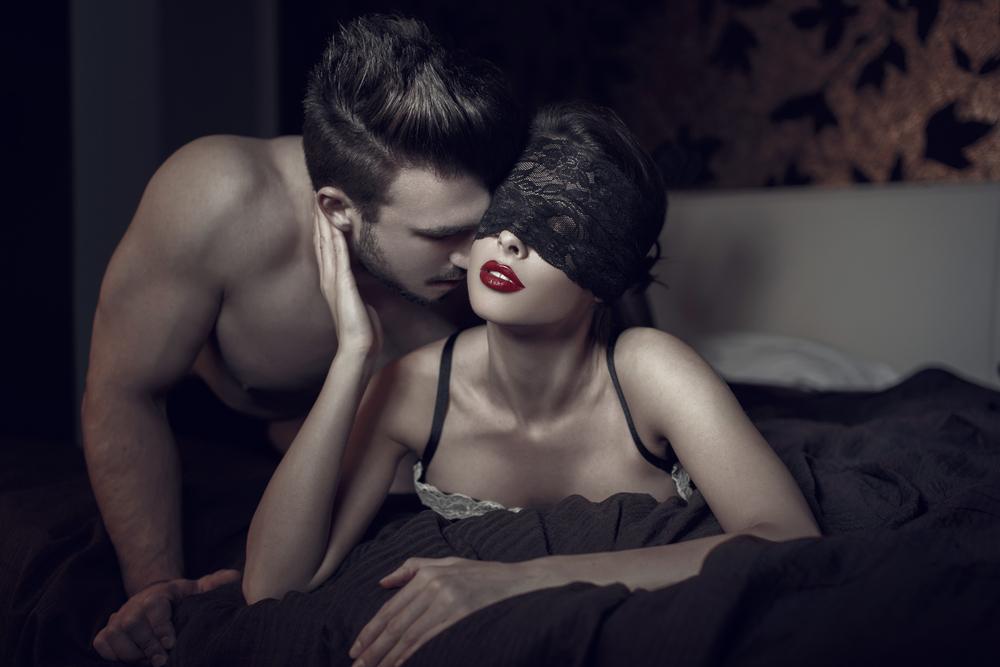 black lace blindfold sex