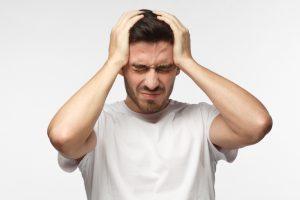 suffering from migraine