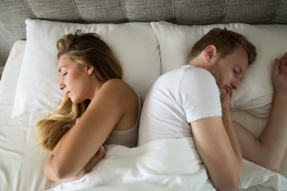 couple having bedroom problems