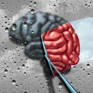 wiping foggy brain