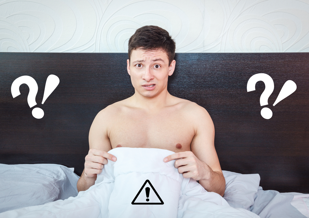 man worried about his penis