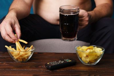 couch potato and junk food