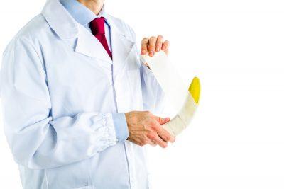 bandaging a banana