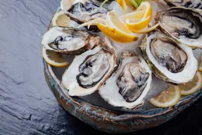 oysters in a platter