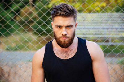 sporty guy with beard