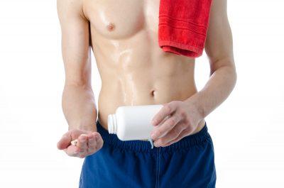 shirtless man supplement
