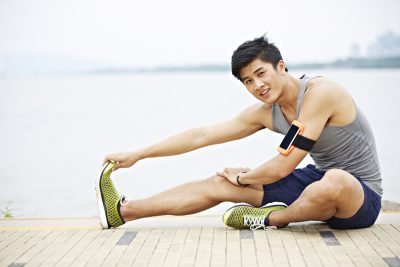 asian man doing exercise
