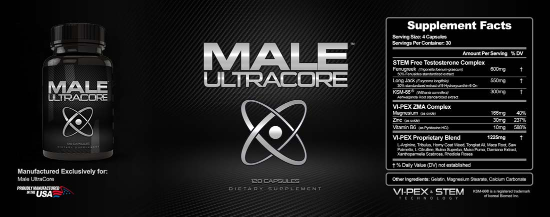 Male UltraCore Label Male T Booster Ingredients